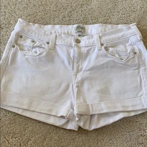 J.Crew white denim jean shorts